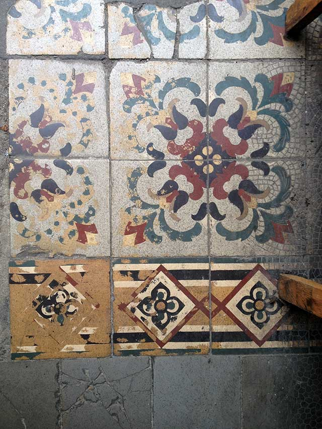 Tile floor detail