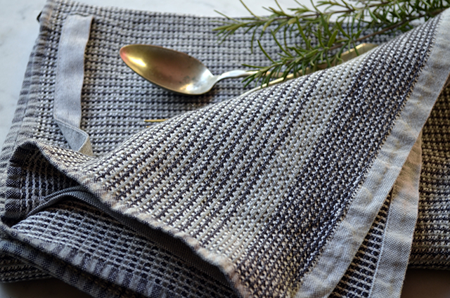 Linen and vintage spoon