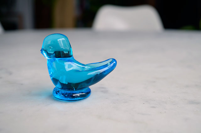 Glass Blue Bird / Totally by Design