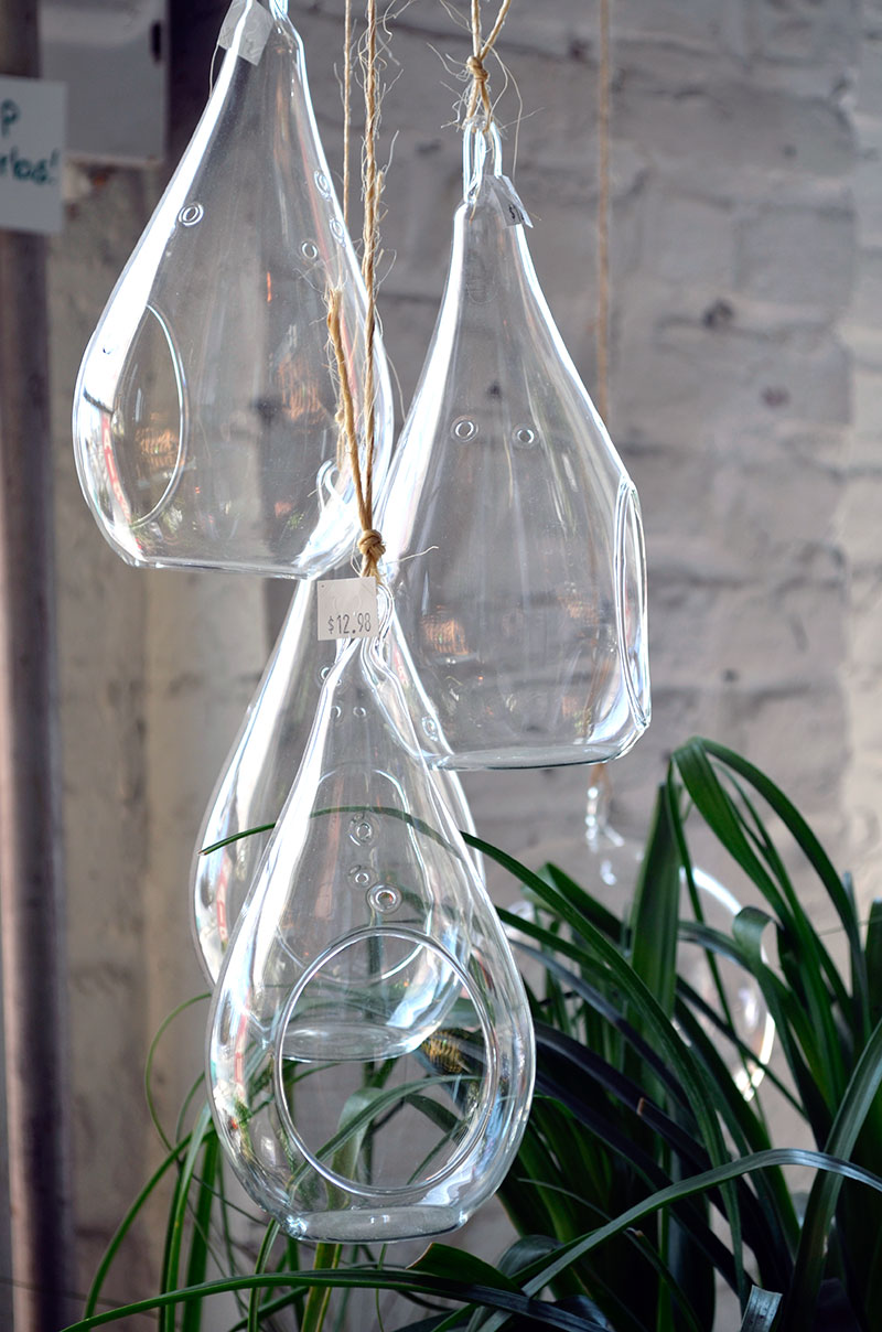 Hanging Glass Containers / totally by design